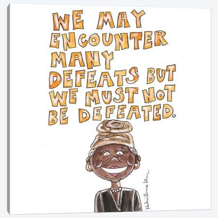Maya Angelou Quote 3-Piece Canvas #KHR144} by Kahri Canvas Print