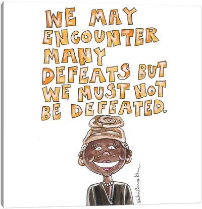 Maya Angelou Quote Canvas Art Print