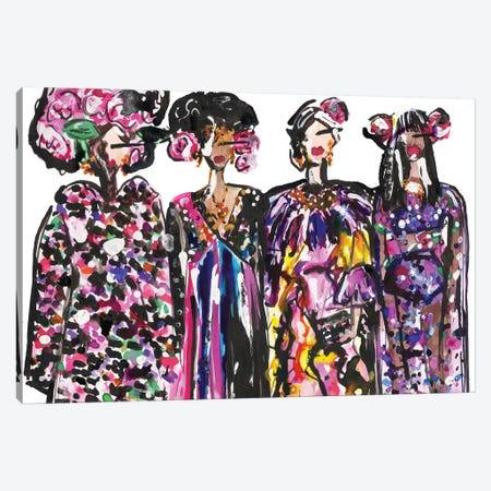 Dolce Girls Canvas Print #KHR154} by Kahri Canvas Wall Art