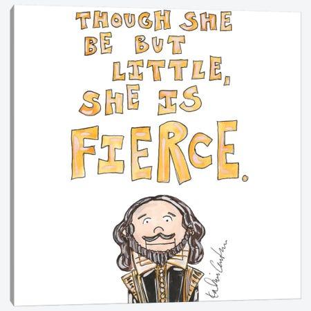 Fierce Quote Canvas Print #KHR156} by Kahri Canvas Art