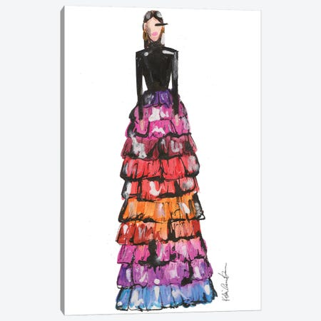 Givenchy Couture Sp 18 Canvas Print #KHR157} by Kahri Canvas Artwork