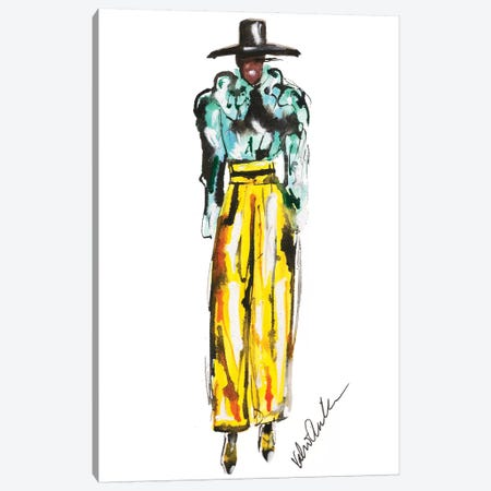 Marc Jacobs Fall 18 Yellow Canvas Print #KHR163} by Kahri Canvas Artwork