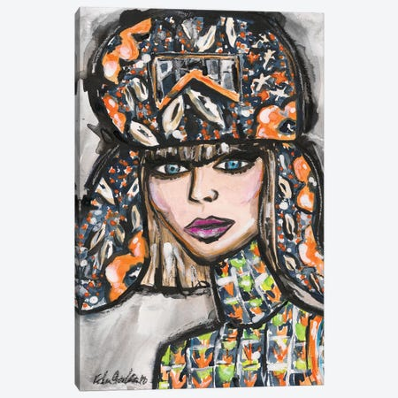 Prada Hat Canvas Print #KHR168} by Kahri Canvas Art