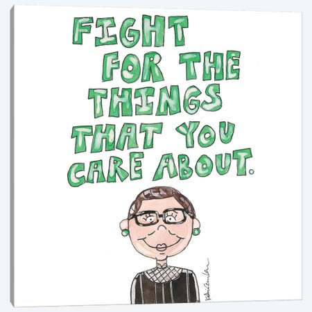 RBG Quote Canvas Print #KHR169} by Kahri Canvas Art