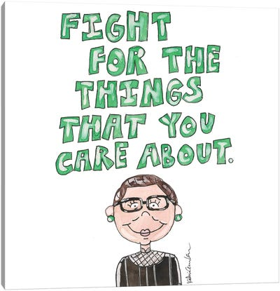 RBG Quote Canvas Art Print
