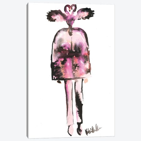 Schiaparelli Couture 18 Flamingo Canvas Print #KHR171} by Kahri Art Print