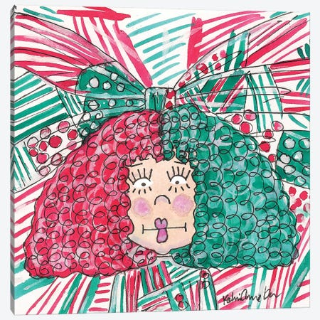 Sia Xmas Canvas Print #KHR172} by Kahri Art Print