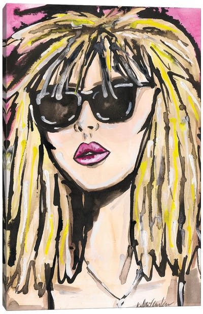Blondie Portrait Canvas Art Print