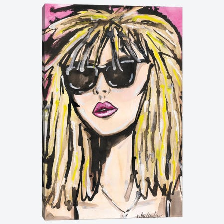 Blondie Portrait Canvas Print #KHR178} by Kahri Canvas Print