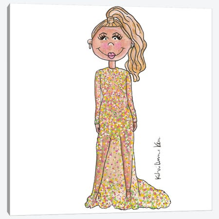 Beyonce, 2015 Met Gala Canvas Print #KHR17} by Kahri Canvas Art Print