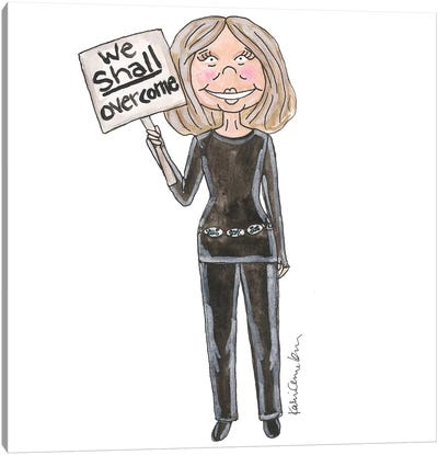 Gloria Steinem Canvas Art Print