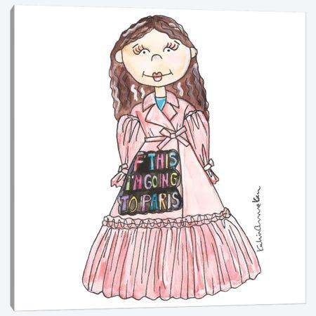F This Girl Canvas Print #KHR191} by Kahri Art Print