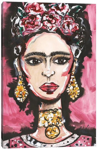 Frida Kahlo Portrait Canvas Art Print