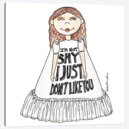 I'm Not Shy Girl Canvas Print #KHR195} by Kahri Canvas Artwork