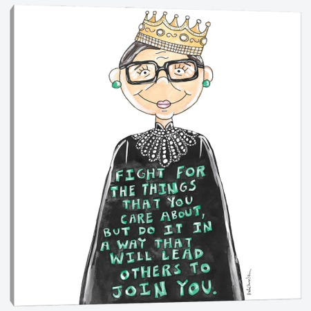 Notorious RBG Quote Canvas Print #KHR199} by Kahri Canvas Print