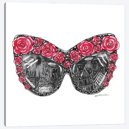 Rose Sunglasses Canvas Print #KHR213} by Kahri Canvas Artwork