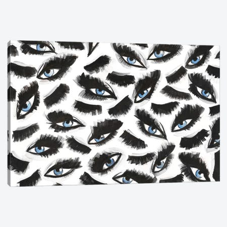 Blue Eyes & Lashes Canvas Print #KHR22} by Kahri Canvas Print