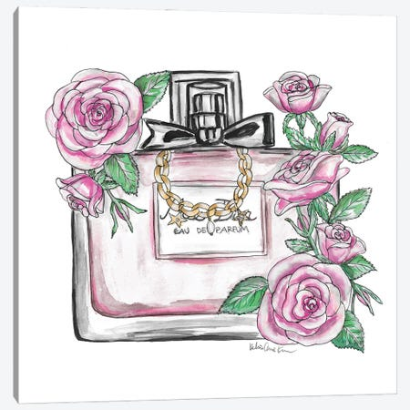 Pink Perfume Canvas Print #KHR238} by Kahri Canvas Art