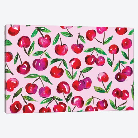 Cherry Leaves Canvas Print #KHR33} by Kahri Canvas Art