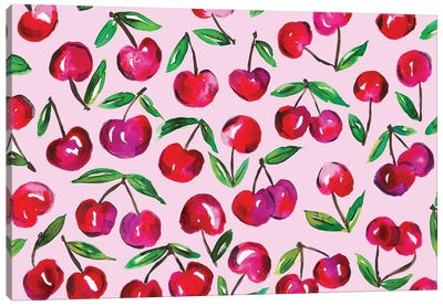 Cherry Leaves Canvas Art Print
