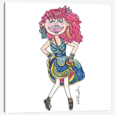 Cindy Lauper Canvas Print #KHR34} by Kahri Canvas Print
