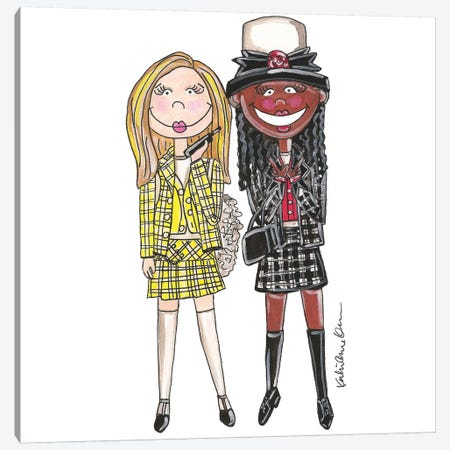 Clueless Canvas Print #KHR36} by Kahri Art Print