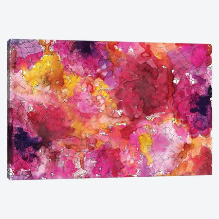 Dahlias Canvas Print #KHR42} by Kahri Canvas Art Print