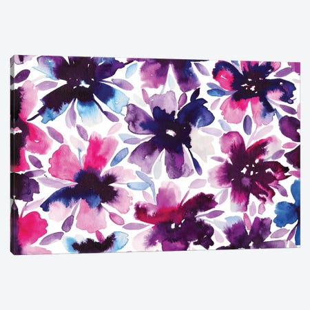 Flowery I Canvas Print #KHR55} by Kahri Canvas Print