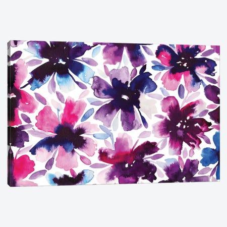 Flowery I Canvas Print #KHR55} by Kahri Canvas Print