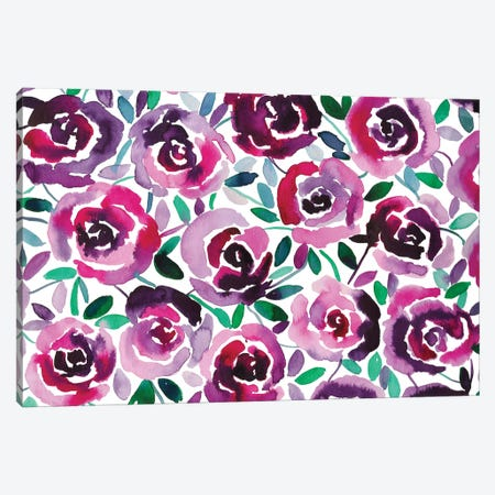 Flowery II Canvas Print #KHR56} by Kahri Canvas Art Print