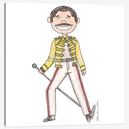 Freddie Mercury Canvas Print #KHR57} by Kahri Canvas Print