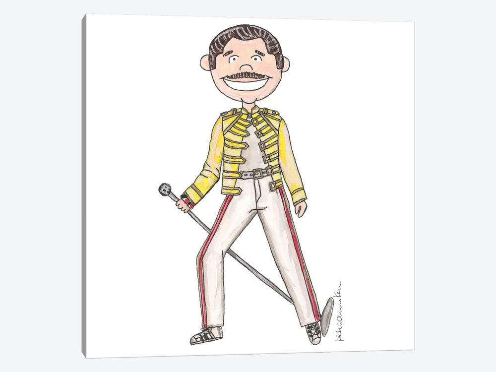 Freddie Mercury by Kahri 1-piece Canvas Art Print