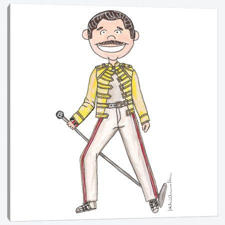 Freddie Mercury 3-Piece Canvas #KHR57} by Kahri Canvas Print