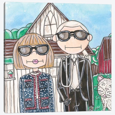 American Gothic Canvas Print #KHR5} by Kahri Canvas Art