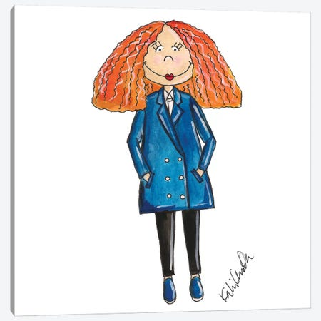 Grace Coddington Canvas Print #KHR62} by Kahri Canvas Art Print