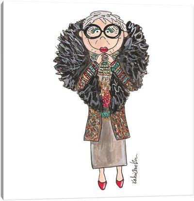Iris Apfel Canvas Art Print