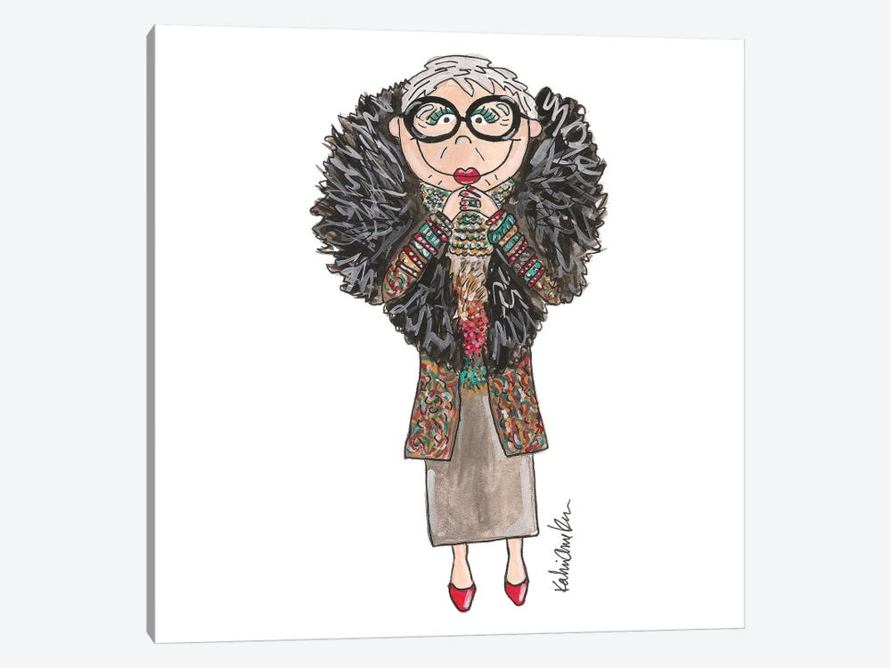 Iris Apfel by Kahri 1-piece Canvas Art