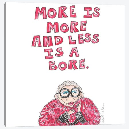 Iris Apfel Quote Canvas Print #KHR66} by Kahri Canvas Wall Art