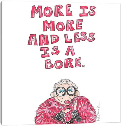 Iris Apfel Quote Canvas Art Print