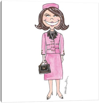 Jackie-O Canvas Art Print