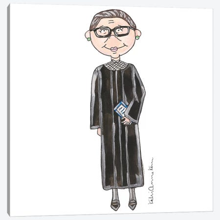 Ruth Bader Ginsburg Canvas Print #KHR75} by Kahri Canvas Art Print