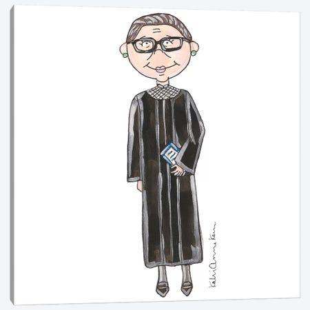 Ruth Bader Ginsburg Canvas Print #KHR75} by Kahri Canvas Art Print