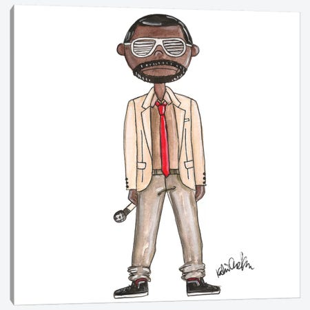 Kanye Canvas Print #KHR77} by Kahri Art Print