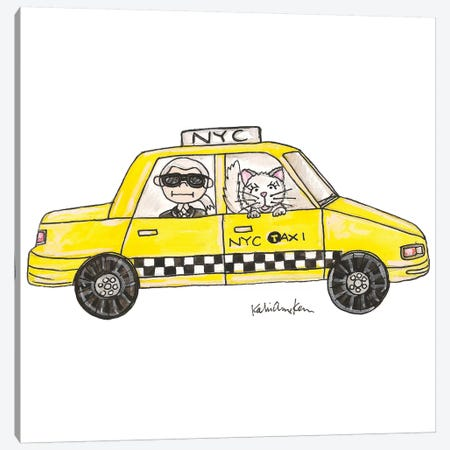 Karl In A Cab Canvas Print #KHR78} by Kahri Canvas Art