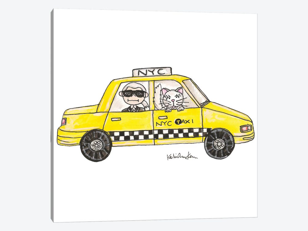 Karl In A Cab by Kahri 1-piece Canvas Wall Art