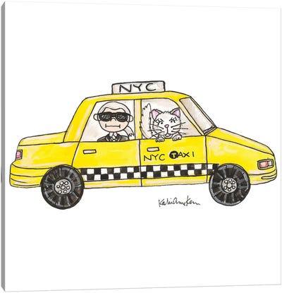 Karl In A Cab Canvas Art Print