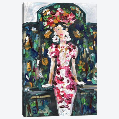 Karlie Kloss Canvas Print #KHR81} by Kahri Canvas Print