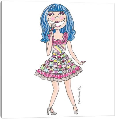 Katy Perry, Cupcake Dress Canvas Art Print