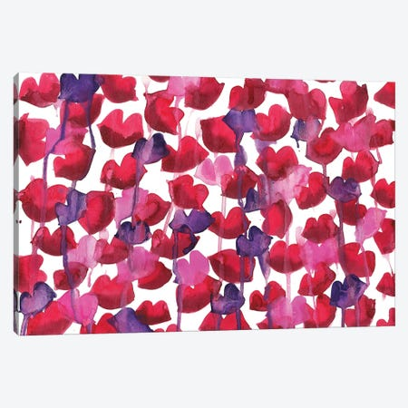 Lips Drip Canvas Print #KHR85} by Kahri Canvas Art