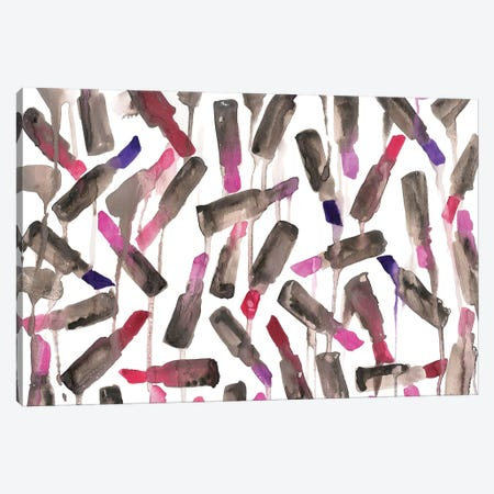 Lipstick Drip Canvas Print #KHR87} by Kahri Canvas Artwork